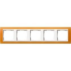 Ramka pięciokrotna (do białych środków), Gira Event Opaque pomarańczowa