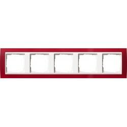 Ramka pięciokrotna (do białych środków), Gira Event Opaque czerwony