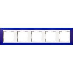 Ramka pięciokrotna (do białych środków), Gira Event Opaque niebieski