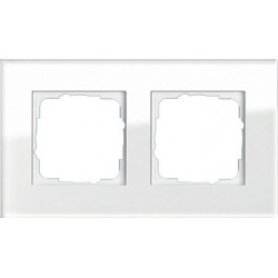 Ramka podwójna Gira Esprit Szkło białe