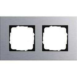 Ramka podwójna Gira Esprit aluminium