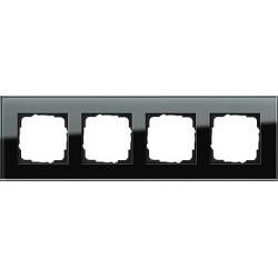 Ramka poczwórna Gira Esprit Szkło czarne