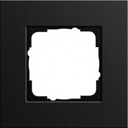 Ramka pojedyncza Gira Esprit aluminium czarne