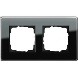 Ramka podwójna Gira Esprit Szkło C czarne