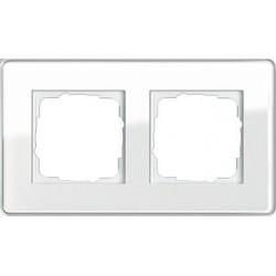 Ramka podwójna Gira Esprit Szkło C białe