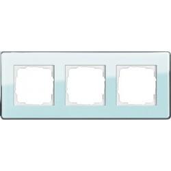 Ramka potrójna Gira Esprit Szkło C seledynowe