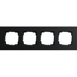 Ramka poczwórna Gira Esprit aluminium czarne