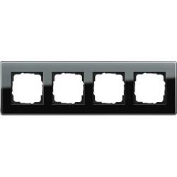 Ramka poczwórna Gira Esprit Szkło C czarne