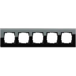 Ramka pięciokrotna Gira Esprit Szkło C czarne