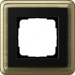 Ramka pojedyncza ClassiX brąz-czarny GIRA