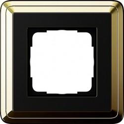Ramka pojedyncza ClassiX mosiądz-czarny GIRA