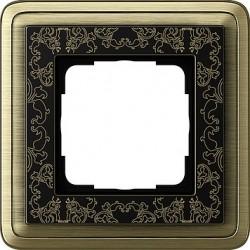 Ramka pojedyncza ClassiX Art brąz-czarny GIRA