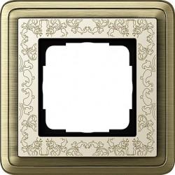 Ramka pojedyncza ClassiX Art brąz-kremowy GIRA