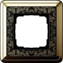 Ramka pojedyncza ClassiX Art mosiądz-czarny GIRA