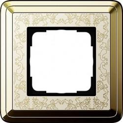 Ramka pojedyncza ClassiX Art mosiądz-kremowy GIRA