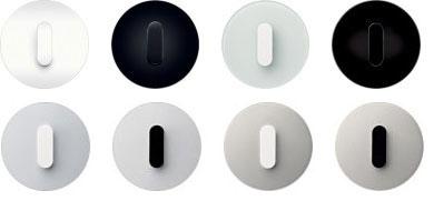 przycisk zwierny obrotowy alu bia y berker. Black Bedroom Furniture Sets. Home Design Ideas