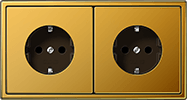 Złote gniazdka Jung LS990