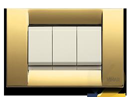 Vimar Idea polished gold